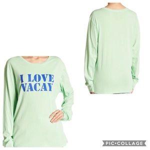 Peace Love World I Love Vacay Long Sleeve T-shirt